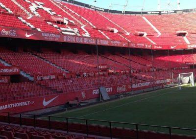 Mortero ignífugo R120 en estadio de fútbol de Sevilla