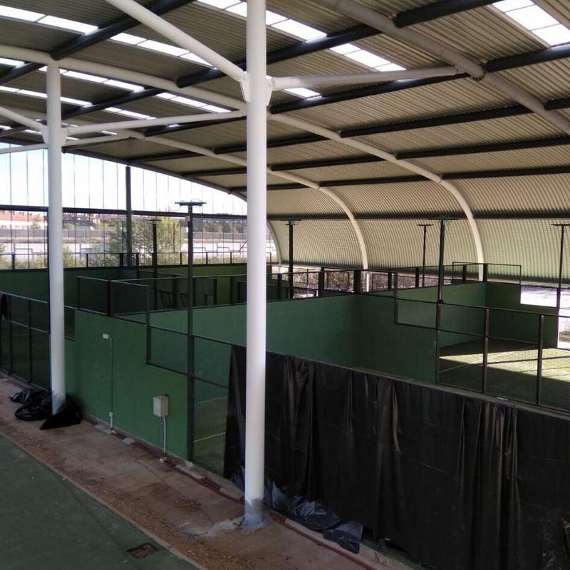 Pintura ignífuga R30 en Instalaciones deportivas Valladolid - Berbel Porcel 2