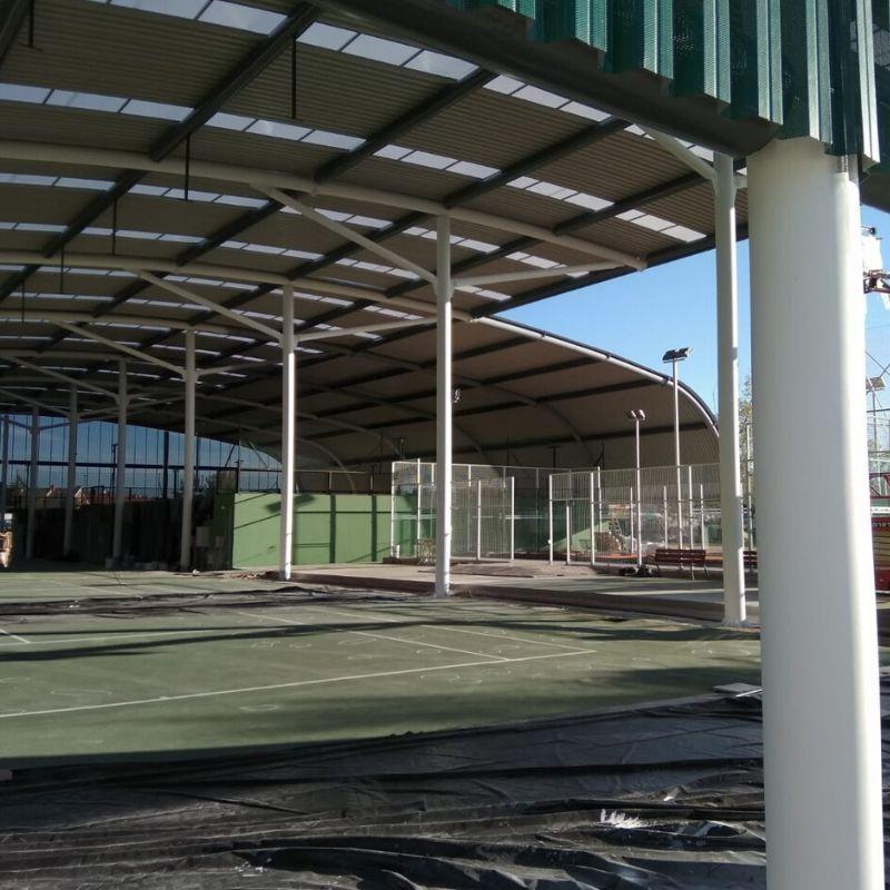 Pintura ignífuga R30 en Instalaciones deportivas Valladolid - Berbel Porcel 3